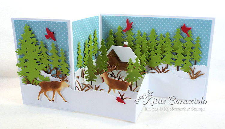 Come see how I made this snowy Z fold winter scene card.
