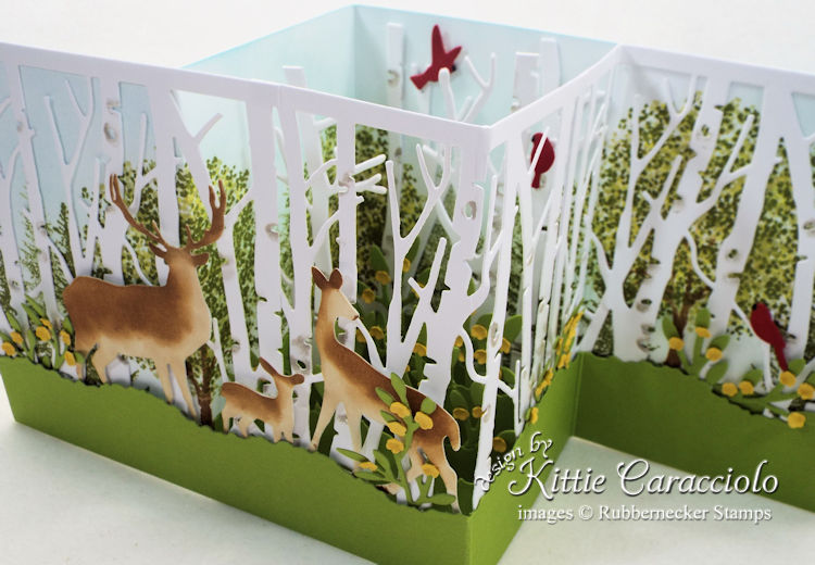 Come see how I made this summer Z fold birch and deer card.