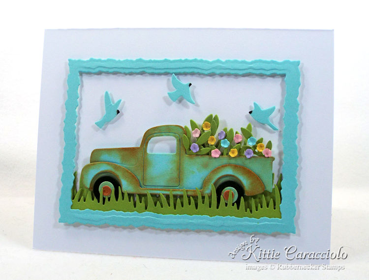 Come see my framed die cut truck scene.