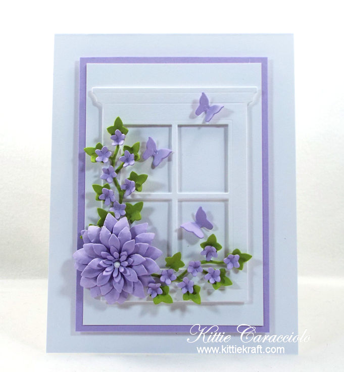 Come check out how I made this elegant floral window card.