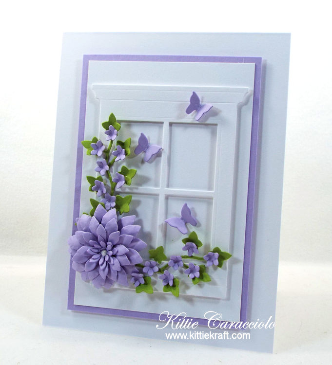 Come check out how I made this floral window card.