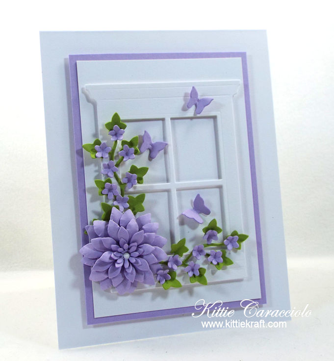 Come check out how I made this pretty floral window card.