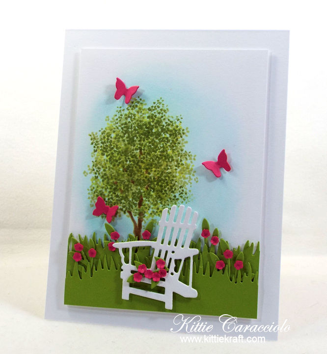 Adirondack Chair and Flowers Card