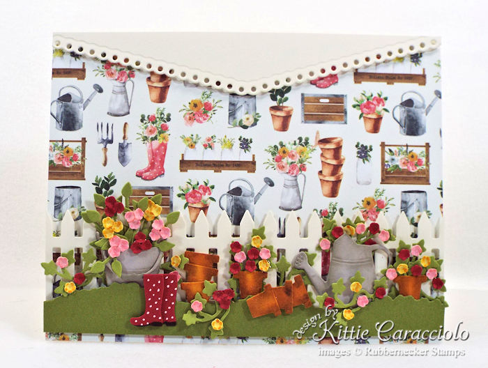 Come over to my blog to see how I made this colorful flower pots garden card.