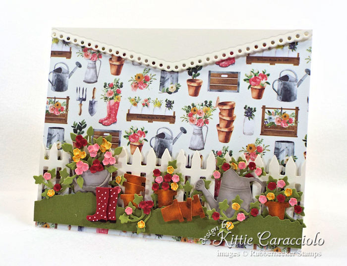 Come over to my blog to see how I made this flower pots garden card.