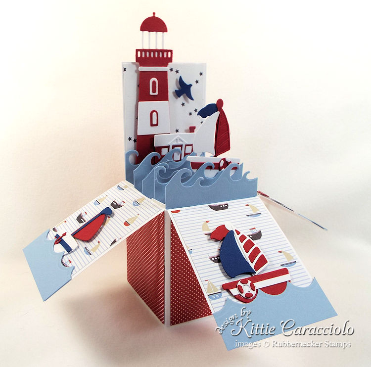 Come over to my blog to see how I made this fun lighthouse pop up box card.