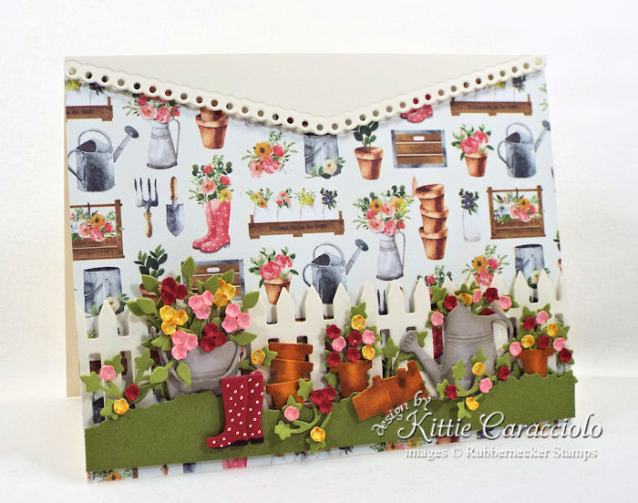 Come over to my blog to see how I made this pretty flower pots garden card.