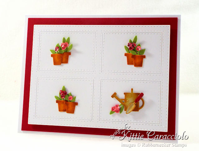 Come see how I made this clean and simple flower pots card.