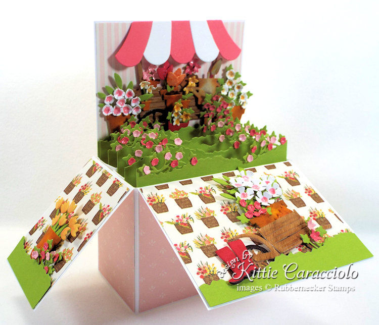 Come see how I made this colorful flower pop up box card.