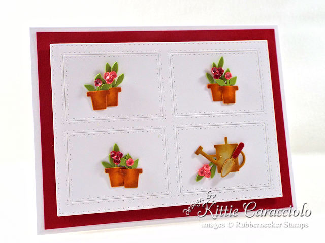 Come see how I made this lovely clean and simple flower pots card.