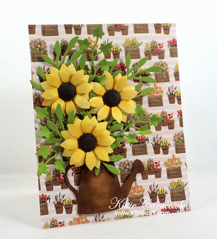 Come see how I made this lovely pretty watering can and flowers card.