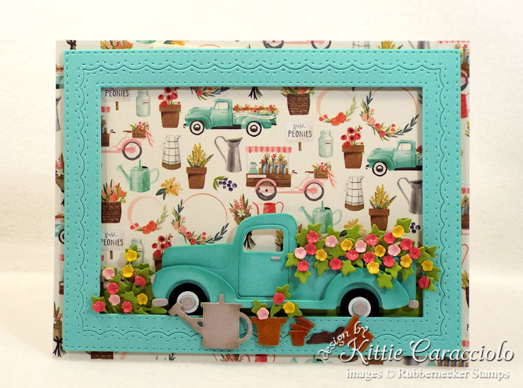 Come see how I made this lovely vintage truck and flowers card.