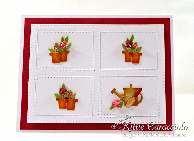 Come see how I made this pretty clean and simple flower pots card.