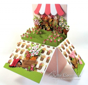 How to Make a Flower Pop Up Box Card