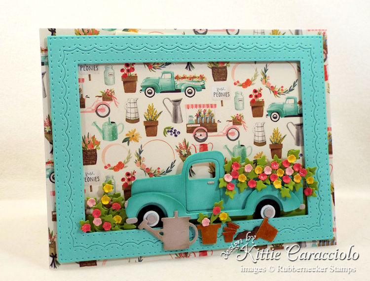 Come see how I made this pretty vintage truck and flowers card.
