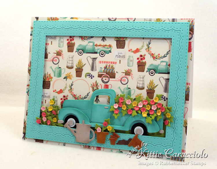 Come see how I made this vintage truck and flowers card.
