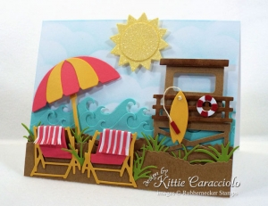 Beach Chairs and Umbrella Card
