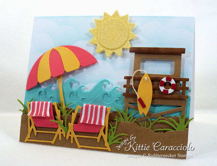 Come check out how I made this beach chairs and umbrella card.