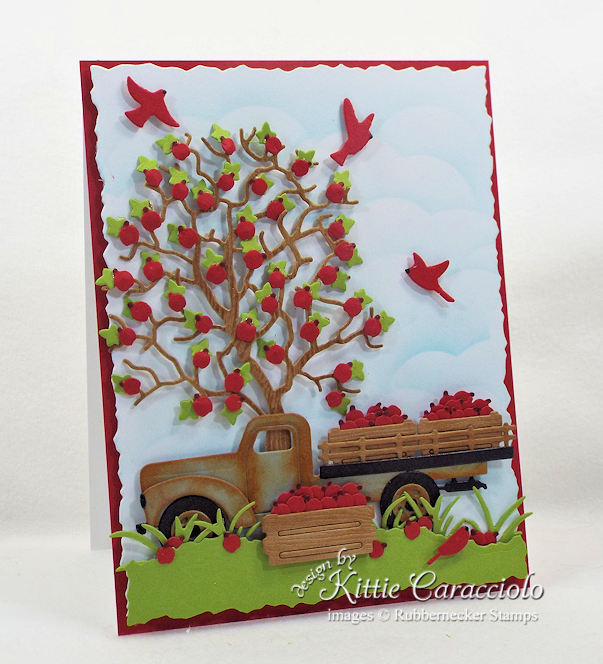 Come check out how I made this vintage die cut old flatbed truck.
