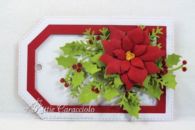 Come over to my blog to see how I made poinsettia die cut gift tags.