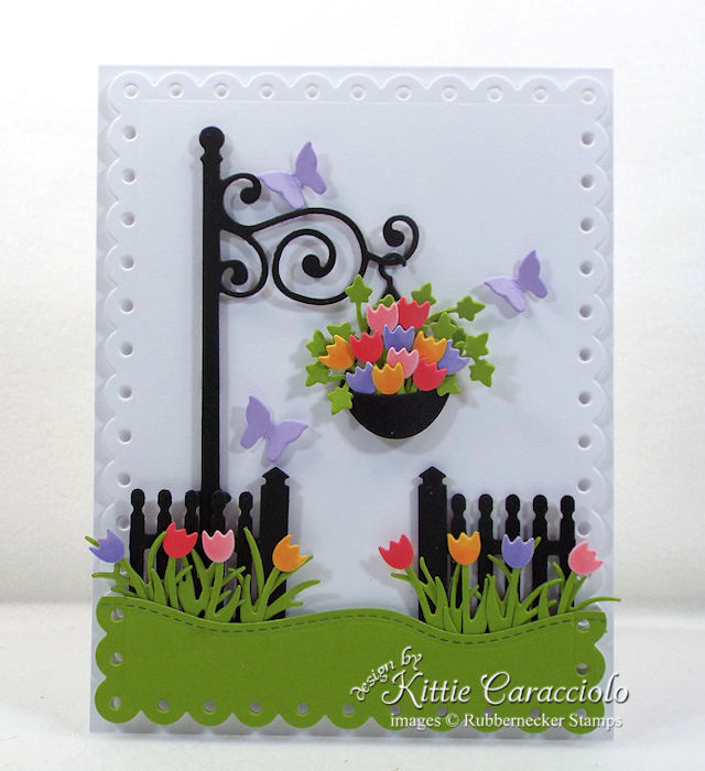 Come over to my blog to see how I made this colorful die cut lamp post and fence card.