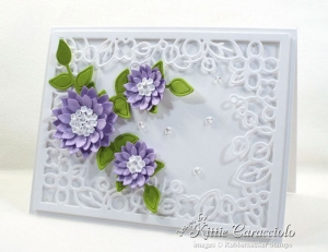 Die Cut Decorative Frame and Flowers