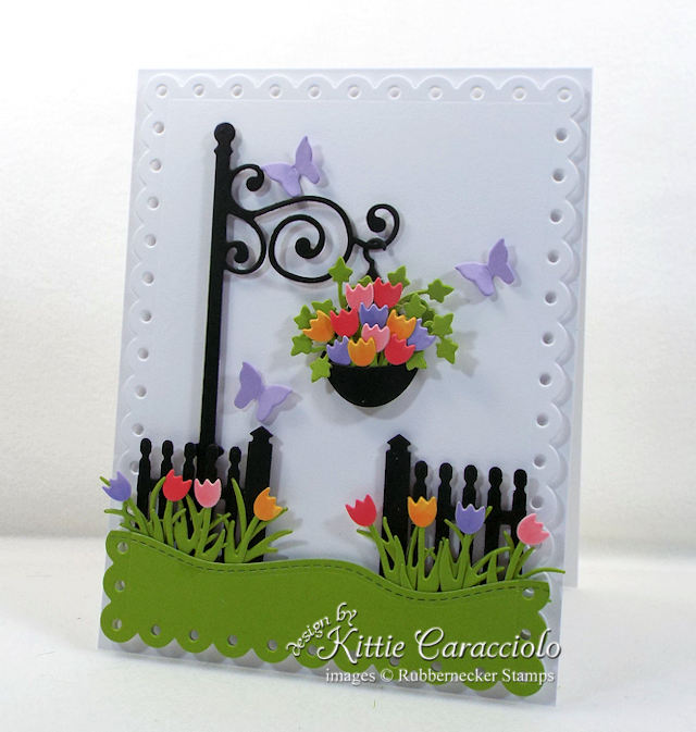 Come over to my blog to see how I made this die cut lamp post and fence card.
