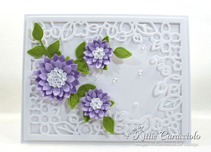 Come over to my blog to see how I made this elegant die cut decorative frame and flowers card.