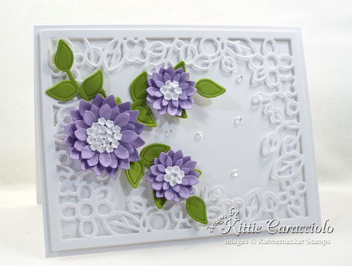 Come over to my blog to see how I made this lovely die cut decorative frame and flowers card.