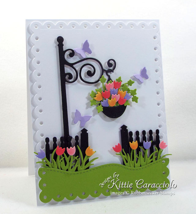 Come over to my blog to see how I made this pretty die cut lamp post and fence card.