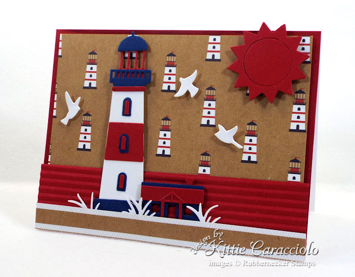 Come over to my blog to see my red, white and blue lighthouse card.