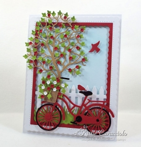 Bicycle and Tree Scene Card