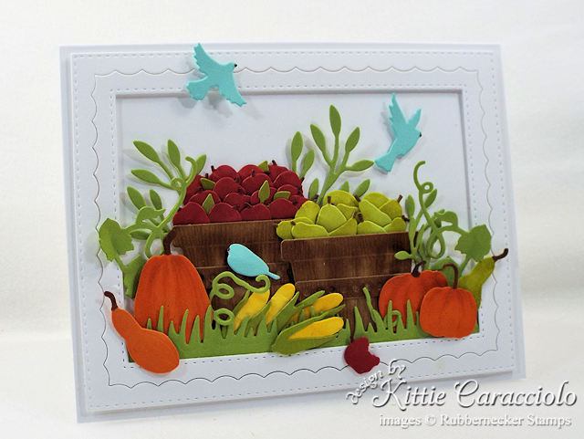 Come see how I made this bountiful die cut fall harvest card.