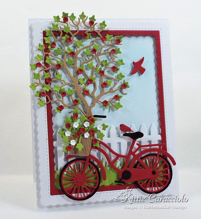Come see how I made this colorful bicycle and tree scene card.