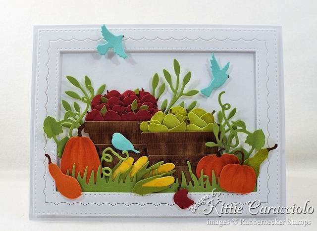 Come see how I made this colorful die cut fall harvest card.