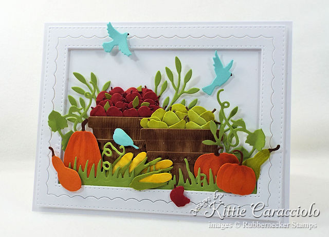 Come see how I made this die cut fall harvest card.