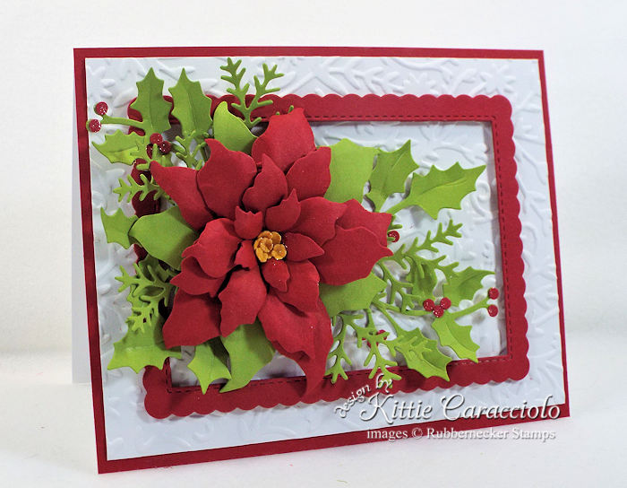 Come see how I made this elegant Christmas in July poinsettia,