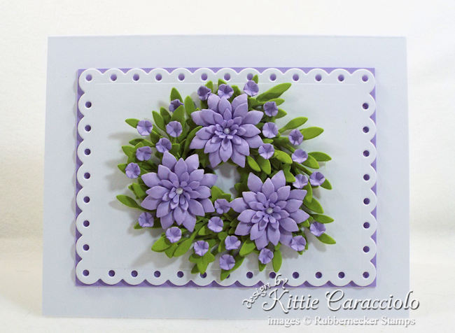 Come see how I made this elegant miniature paper wreath card.