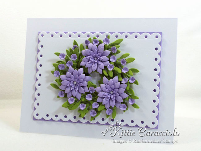 Come see how I made this miniature paper wreath card.