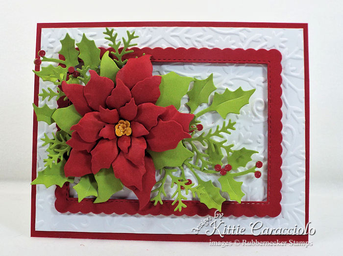 Come see how I made this pretty Christmas in July Poinsettia.
