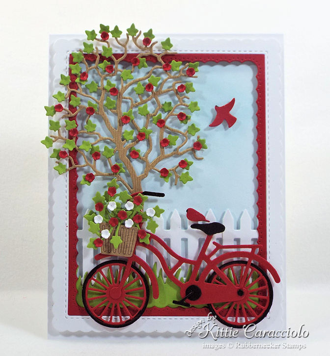 Come see how I made this pretty bicycle and tree scene card.