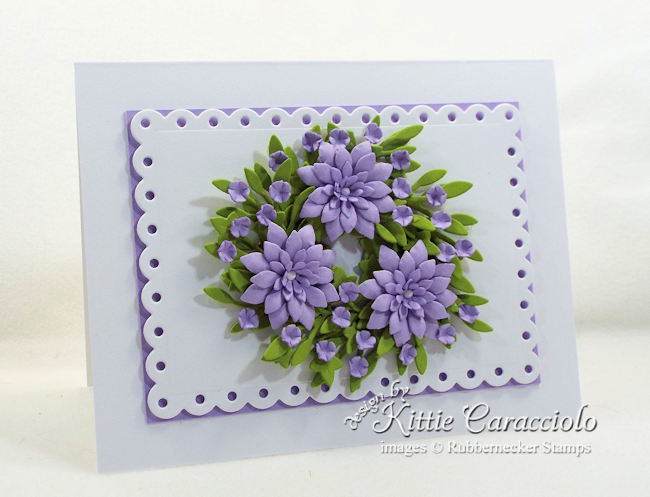 Come see how I made this pretty miniature paper wreath card.