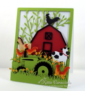 Red Barn and Farm Animals