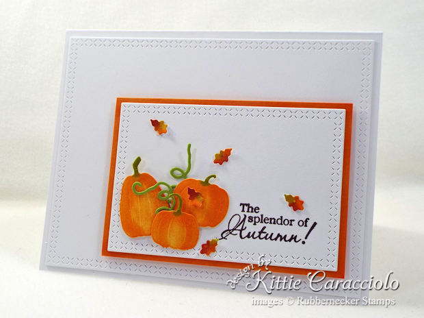 Come see how I made this CAS pumpkins and leaves card.