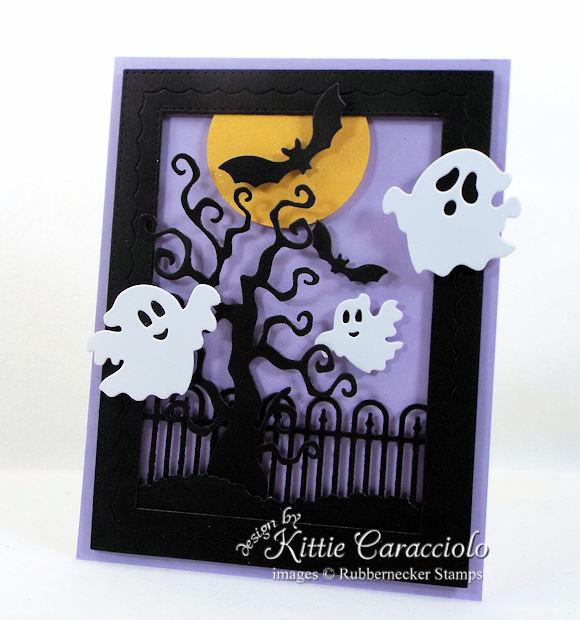 Come see how I made this Halloween ghosts and bats card.