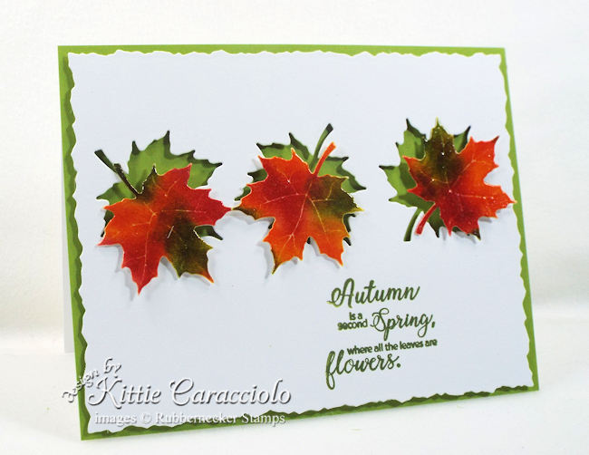 Come see how I made this cleanand simple die cut autumn leaves card.