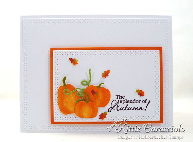Come see how I made this colorful CAS pumpkins and leaves card.