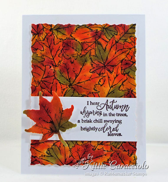 Come see how I made this colorful autumn leaves background card.