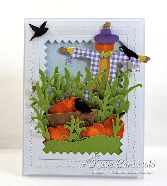 Come see how I made this colorful scarecrow and pumkins card.