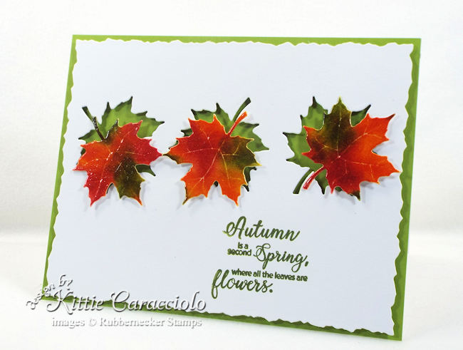 Come see how I made this die cut autumn leaves card.